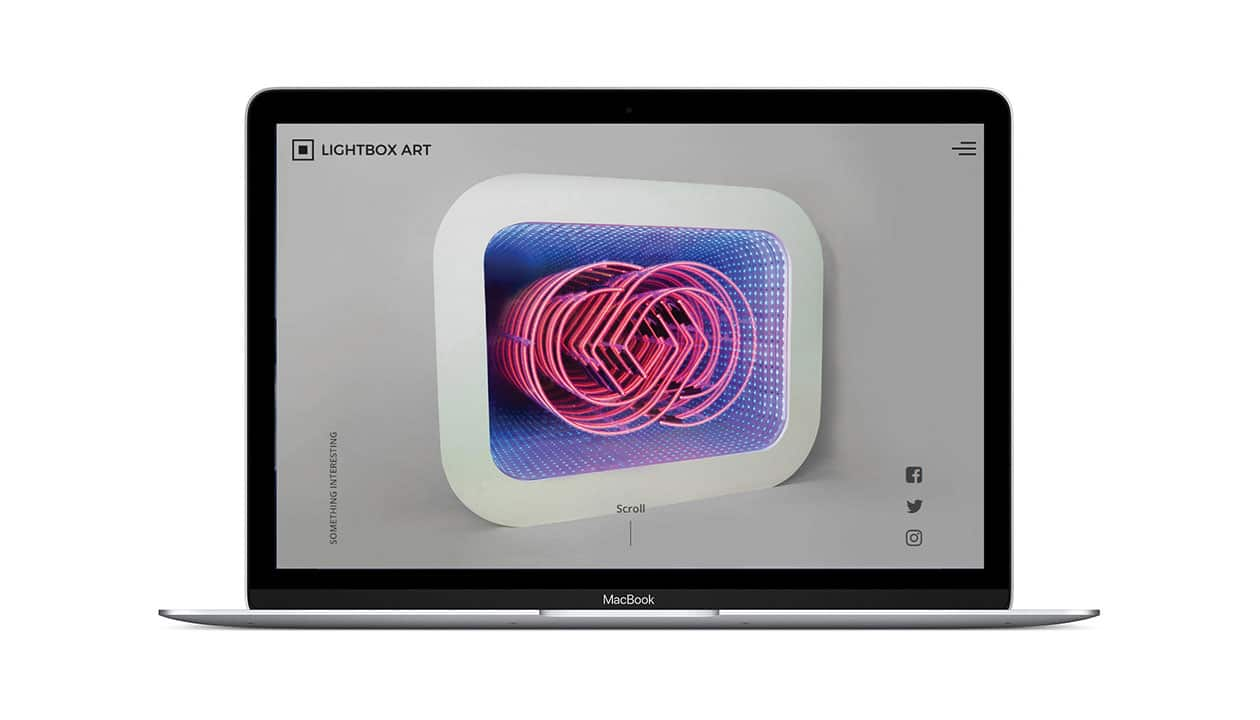 Lightbox Art custom website on a laptop