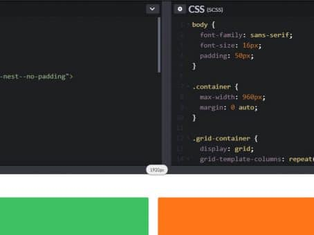 Screenshot of Code Pen