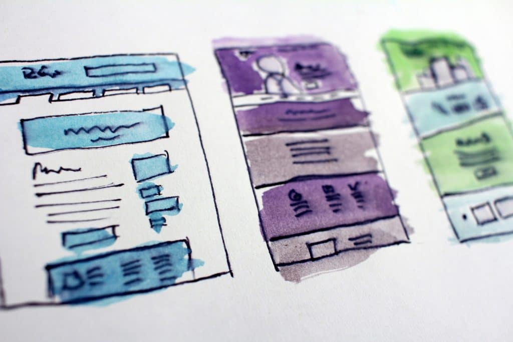 Wireframe for a small business website